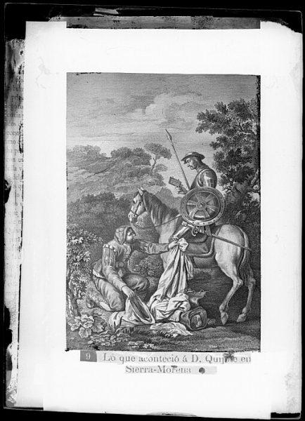 CA-0754-VI_Grabado del Quixote-Escena titulada Lo que aconteció a D Quijote en Sierra Morena