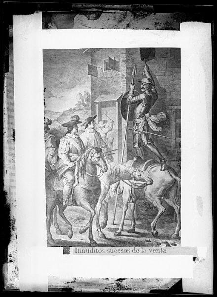 CA-0758-VI_Grabado del Quixote-Escena titulada Inauditos sucesos de la venta