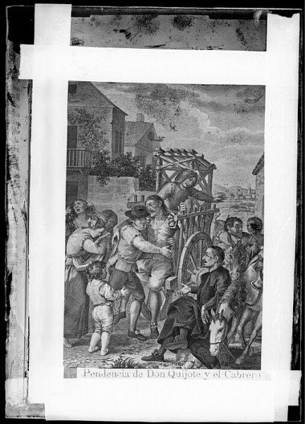 CA-0762-VI_Grabado del Quixote-Escena titulada Pendencia de Don Quijote y el Cabrero