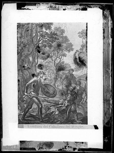 CA-0765-VI_Grabado del Quixote-Escena titulada Aventura del Caballero del bosque