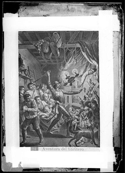 CA-0769-VI_Grabado del Quixote-Escena titulada Aventura del titiritero
