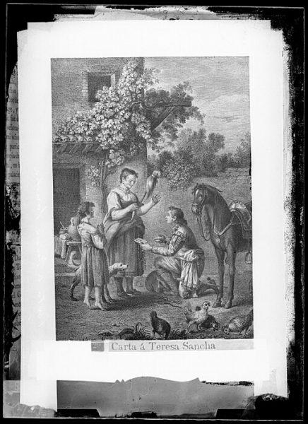CA-0771-VI_Grabado del Quixote-Escena titulada Carta a Teresa Sancha