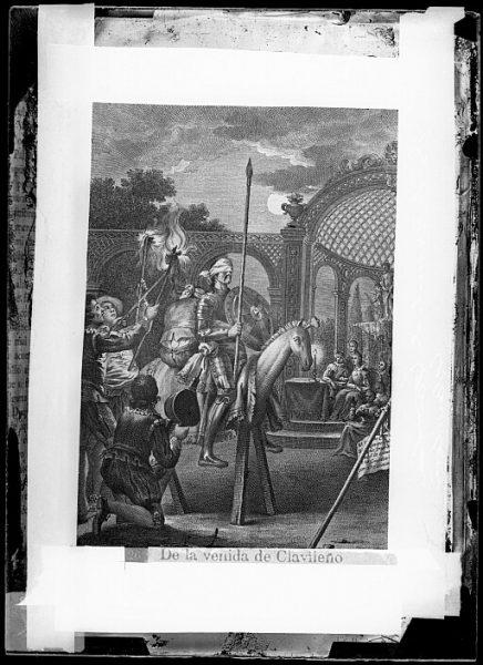 CA-0772-VI_Grabado del Quixote-Escena titulada De la venida de Clavileño