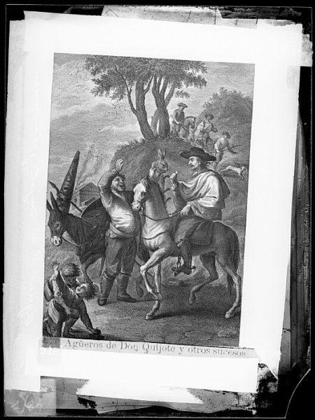 CA-0778-VI_Grabado del Quixote-Escena titulada Ag³eros de Don Quijote y otros sucesos