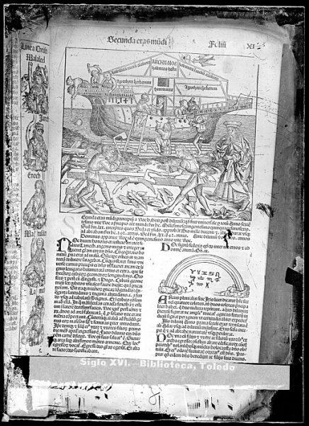 CA-0784-VI_Grabado que ilustra la Secunda eras mundi del Liber chronicarum de Hartmann Schedel, impreso por Anton Koberger, en Nuremberg en 1493