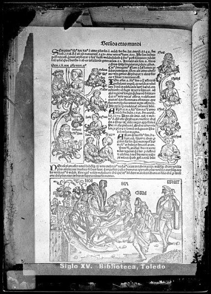 CA-0785-VI_Grabado que ilustra la Secunda eras mundi del Liber chronicarum de Hartmann Schedel, impreso por Anton Koberger, en Nuremberg en 1493