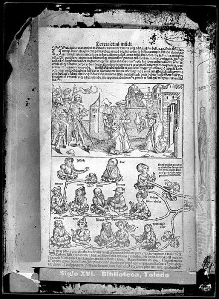 CA-0786-VI_Grabado que ilustra la Tercia eras mundi del Liber chronicarum de Hartmann Schedel, impreso por Anton Koberger, en Nuremberg en 1493