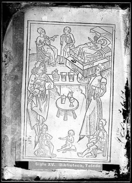 CA-0810-VI_Grabado que ilustra el libro Hortus sanitatis, vel tractatus de herbis et plantis, de animalibus omnibus et de lapidibus , publicado en Maguncia en 1491