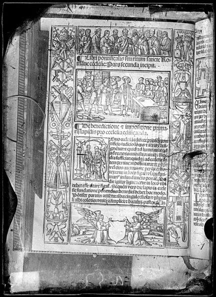 CA-0814-VI_Grabado de la portada del Libri pontificalis s[ecundu]m ritum sancte Romane ecclesie-pars secunda incipit, impreso posiblemente en Venecia a mediados del siglo XVI