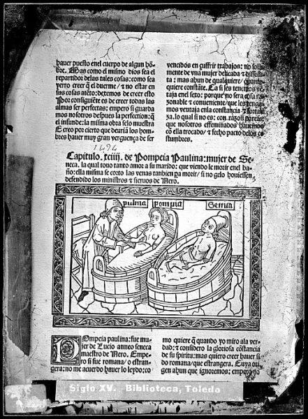 CA-0817-VI_Grabado que ilustra el comienzo del capítulo 94 del libro De claris mulieribus , de Boccaccio, impreso en Zaragoza, en 1494