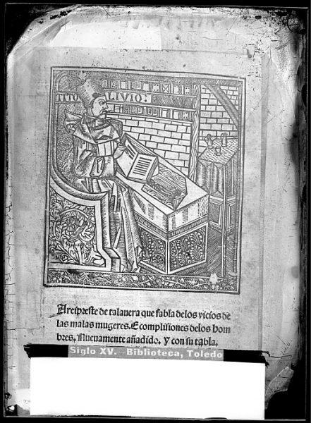CA-0828-VI_Grabado que ilustra el libro Reprobación del amor mundano o Corbacho del arcipreste de Talavera, impreso en el siglo XVI