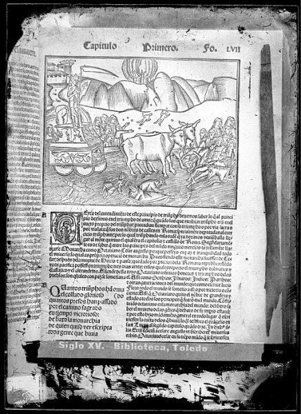 CA-0832-VI_Grabado del triunfo de la muerte que ilustra el capítulo primero del libro Triumphos de Petrarca Tra[n]slacion d[e] los seys Triumfos de Fra[n]cisco Petrarca , impreso en Sevilla en 1526
