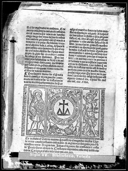 CA-0833-VI_Grabado incluido en el colofón del libro Facta et dicta memorabilia de Valerio Máximo, impreso en Zaragoza, en 1495