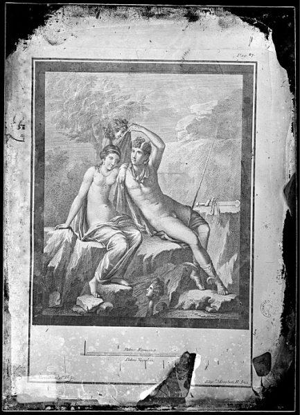 CA-0840-VI_Grabado de una escena mitológica con el texto de Palmo Romano y Palmo Napoleta realizado por Filippo Morghen en la segunda mitad del siglo XVIII
