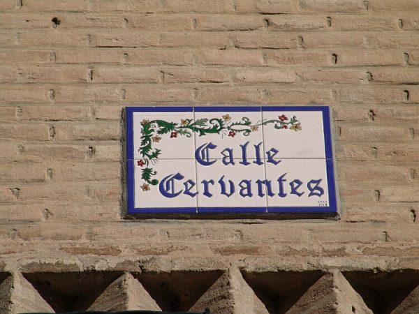 Calle dedicada a Cervantes 1