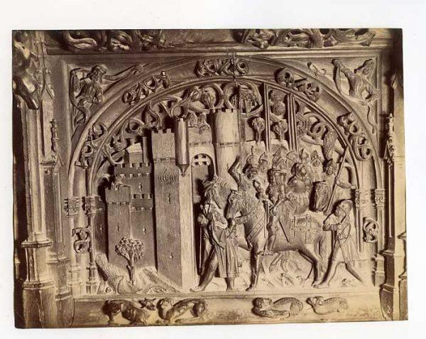 Catedral-Coro - Escena de la Rendición de Níjar en la sillería baja-Colección Luis Alba_LA-534187-PA
