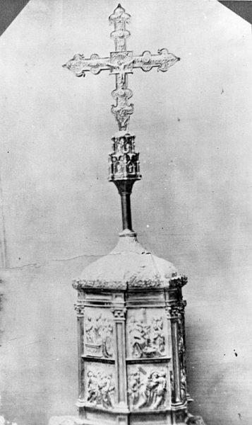 Catedral-Cruz procesional de madera, chapada con plata dorada, de la primera mitad del siglo XVI_CA-0295-PA