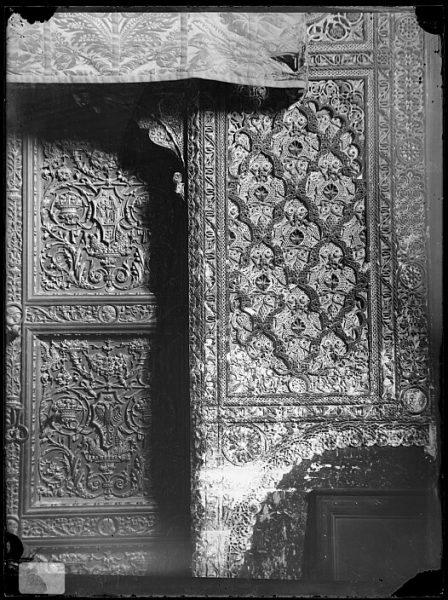 Catedral-Detalle del arrabá de la puerta interior de la Sala Capitular_CA-0284-VI