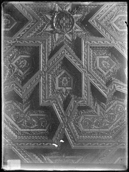 Catedral-Detalle del artesonado de la Antesala Capitular_CA-0278-VI