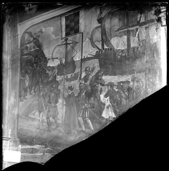 Catedral-Detalle del fresco de la Toma de Orán de Juan de Borgoña en la Capilla Mozárabe_CA-0083-VI