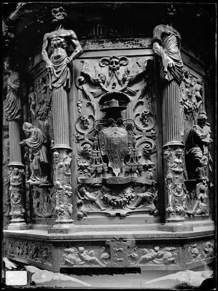 Catedral-Detalle del púlpito de la Capilla Mayor_CA-0069-VI