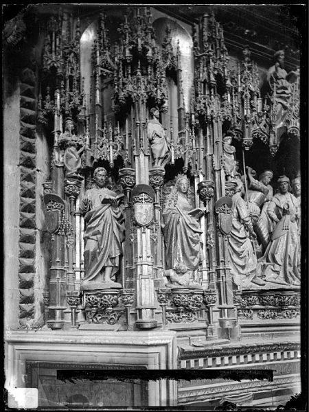 Catedral-Detalle del retablo de la Capilla Mayor_CA-0075-VI