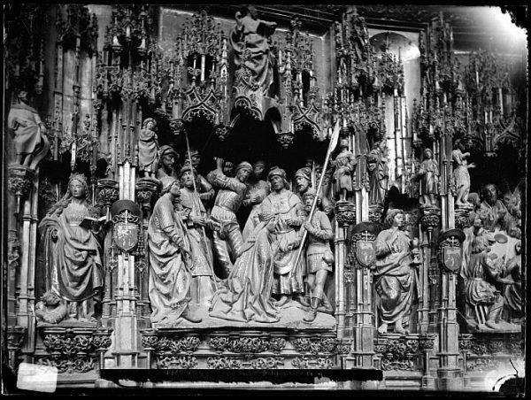 Catedral-Detalle del retablo de la Capilla Mayor_CA-0076-VI