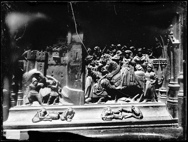 Catedral-Escena de la Entrada de los reyes en Almería en la sillería baja del coro_CA-0125-VI