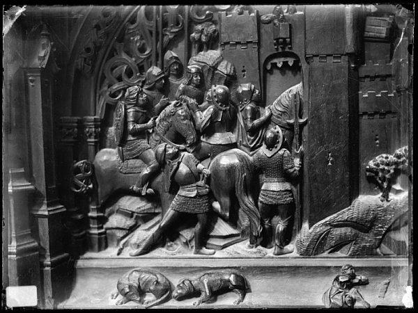 Catedral-Escena de la ocupación de una plaza indeterminada del Reino de Granada en la sillería baja del coro_CA-0128-VI