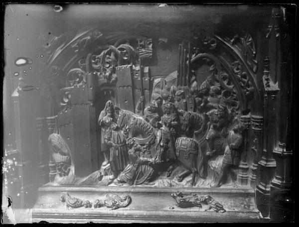 Catedral-Escena de la ocupación de una plaza indeterminada del Reino de Granada en la sillería baja del coro_CA-0138-VI