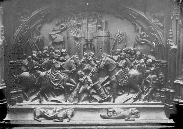 Catedral-Escena de la Toma de Moclín en la sillería baja del coro_CA-0124-PA