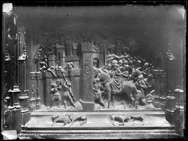 Catedral-Escena del Ataque y ocupación de Gor en la sillería baja del coro_CA-0145-VI