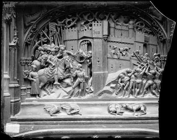 Catedral-Escena del Ataque y posesión de Loja en la sillería baja del coro_CA-0148-VI