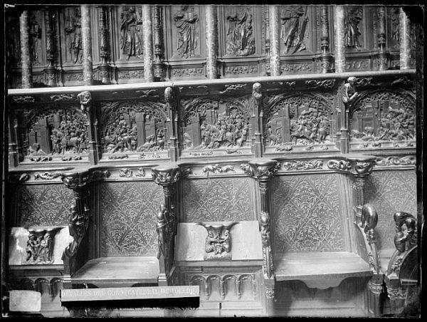 Catedral-Escenas de la Guerra de Granada y del Apostolado en la sillería baja del coro_CA-0146-VI