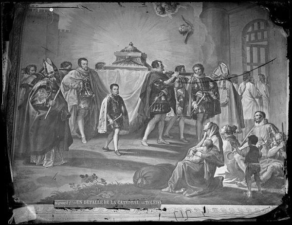 Catedral-Fresco de Francisco Bayeu titulado Translación de los restos de San Eugenio en la pared de una de las naves del claustro_CA-0105-VI