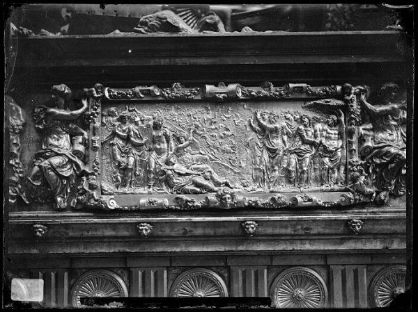 Catedral-Frontal de atril de hierro y bronce dorado del Coro_CA-0228-VI