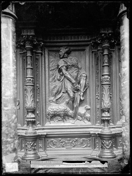Catedral-Imagen de Moisés en la sillería alta del coro_CA-0153-VI