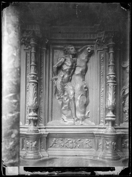 Catedral-Imagen de San Sebastián en la sillería alta del coro_CA-0154-VI