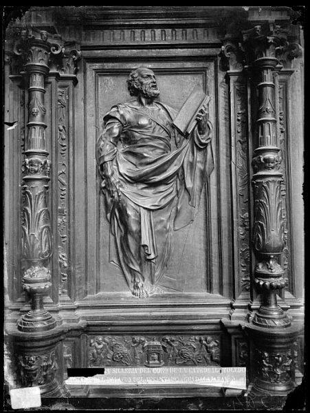 Catedral-Imagen de Santo Tomás en la sillería alta del coro_CA-0157-VI