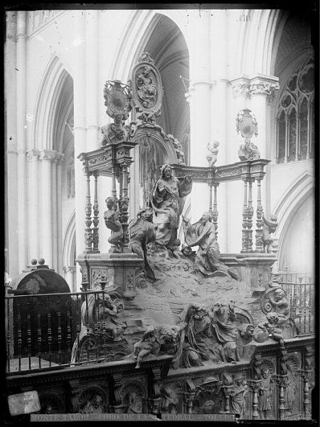 Catedral-Interior del coro con la Transfiguración del Señor en el Monte Tabor de Alonso de Berruguete_CA-0120-VI