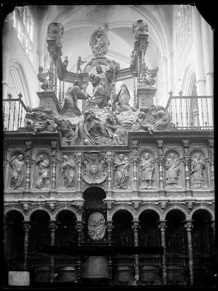 Catedral-Interior del coro con la Transfiguración del Señor en el Monte Tabor de Alonso de Berruguete_CA-0121-VI