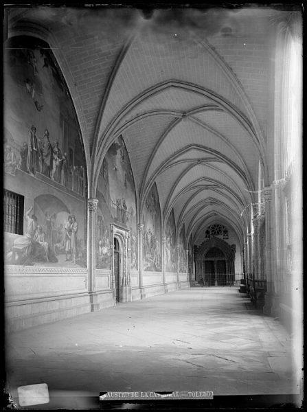 Catedral-Nave del claustro con los frescos del pintor Bayeu_CA-0097-VI