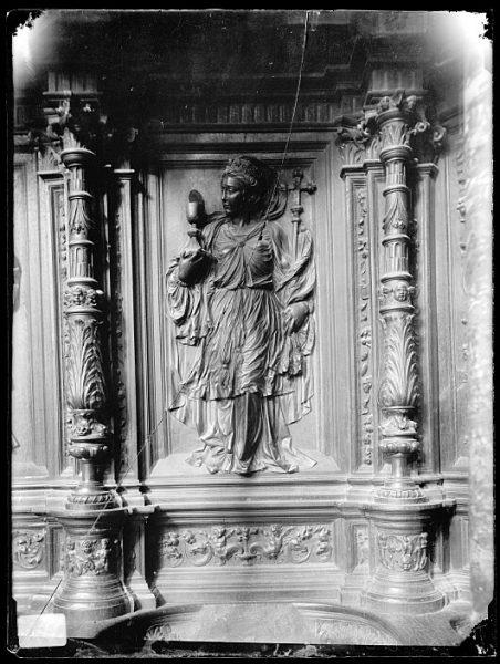 Catedral-Representación de la Eucaristía en la sillería alta de coro_CA-0152-VI