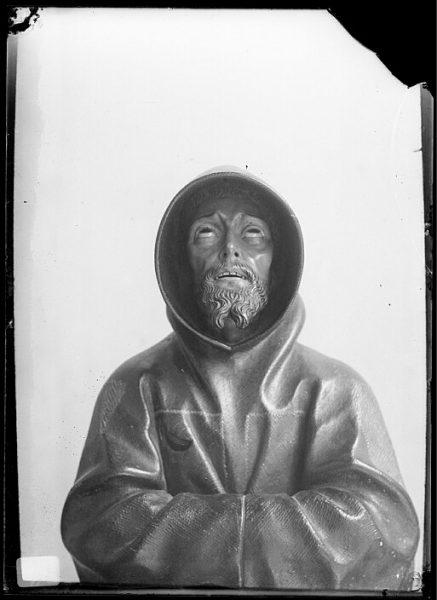 Detalle de la escultura de Pedro de Mena-San Francisco de Asís_CA-0742-VI