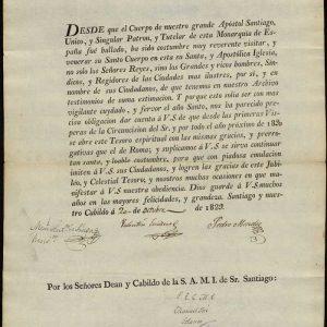6. Invitación al jubileo del Año Santo Compostelano de 1830