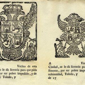 42. ¿El ayuntamiento daba licencia a los pobres para pedir limosna en el siglo XVIII?