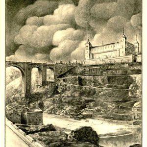 47. ¿Un puente para unir la Academia y el Alcázar cruzando el Tajo?
