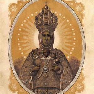60. Un grabado de la Virgen del Sagrario de la segunda mitad del siglo XIX
