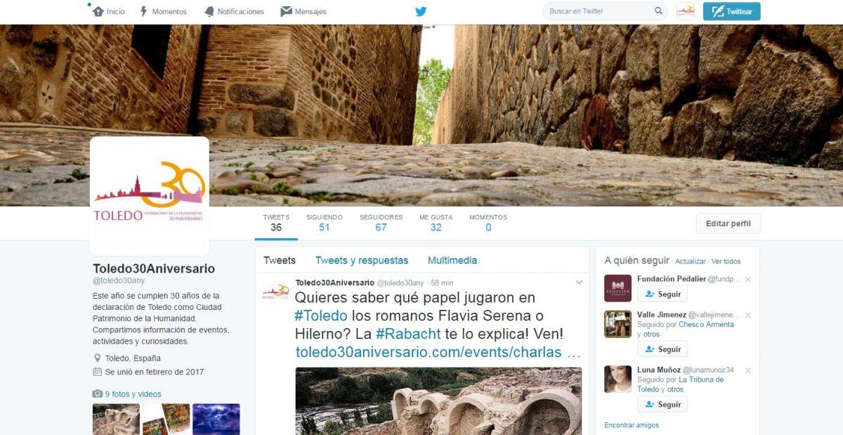 Toledo 30 Aniversario da a conocer su programa de actividades a través de Facebook, Twitter e Instagram