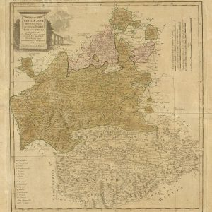 estaurado un mapa de las provincias de Toledo, Madrid y La Mancha de 1781